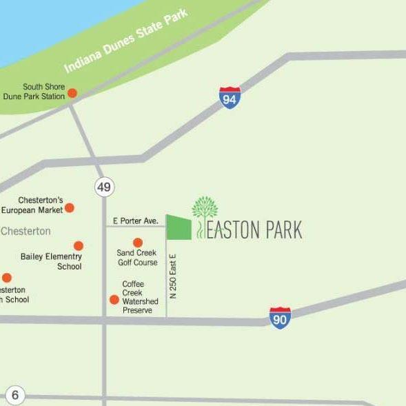 Easton park map